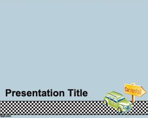 free auto rental powerpoint template for donate a car or rent a car