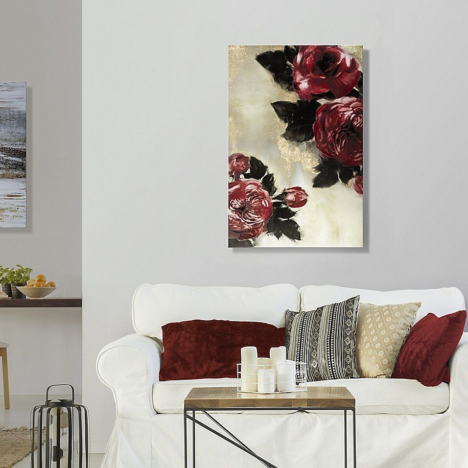 Red Roses 24 Inch X 36 Inch Canvas Wall Art Bed Bath Beyond In 2020 Red Living Room Decor Red Wall Art Living Room Red Living Room Walls #red #wall #art #for #living #room