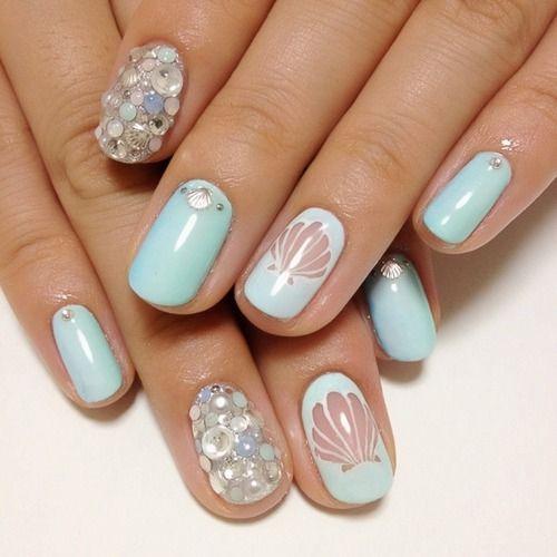Mermaid nail art