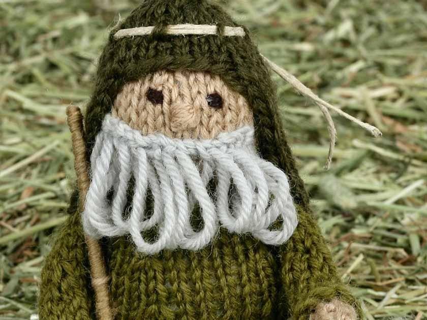 Nativity KAL third instalment - shepherd and his sheep   Pinterest ...