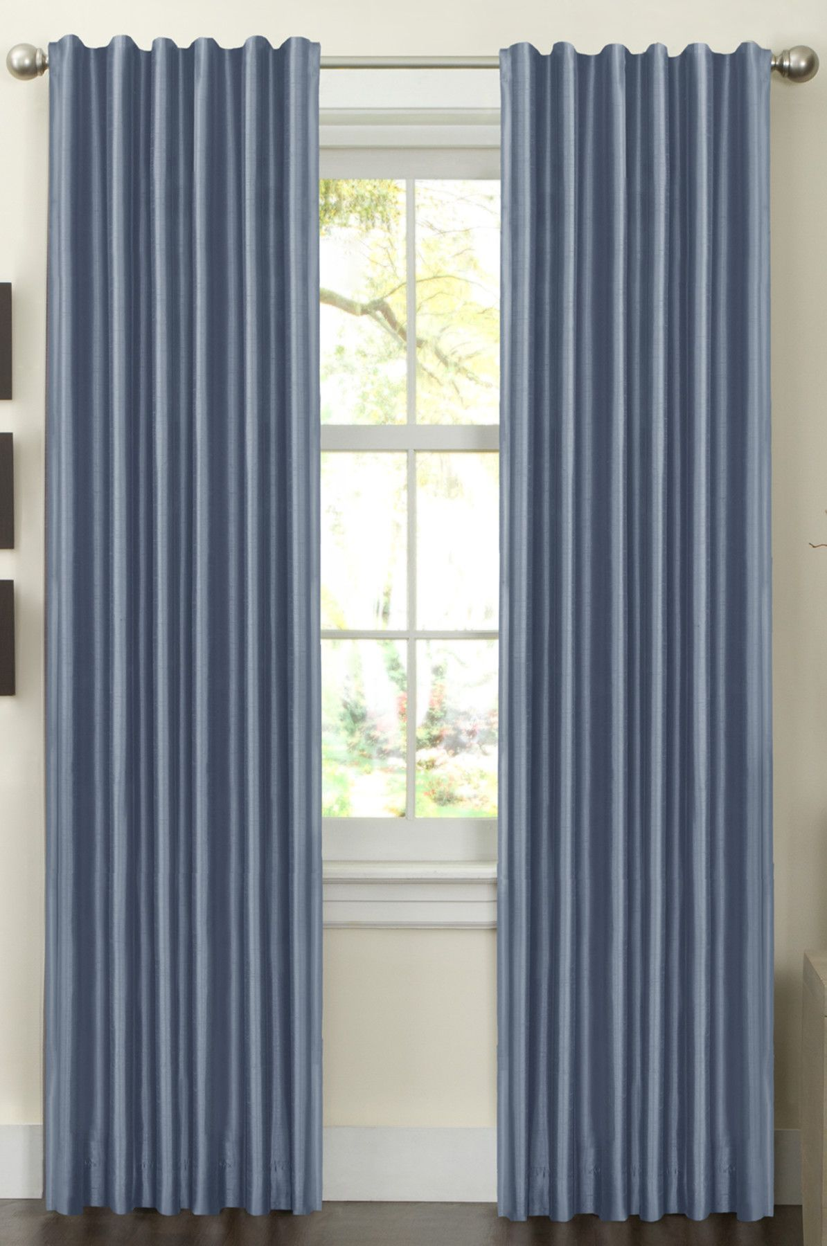 Milan Solid Room Darkening Grommet Curtain Panels Grommet