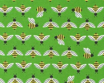 Bumble Bees on Green From Robert Kaufman's