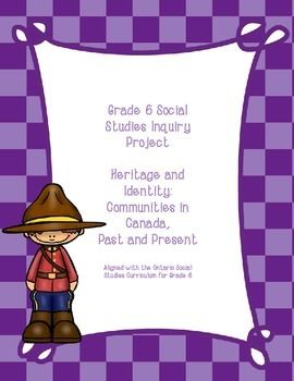 Grade 6 Social Studies Inquiry Project: Heritage and Identity in