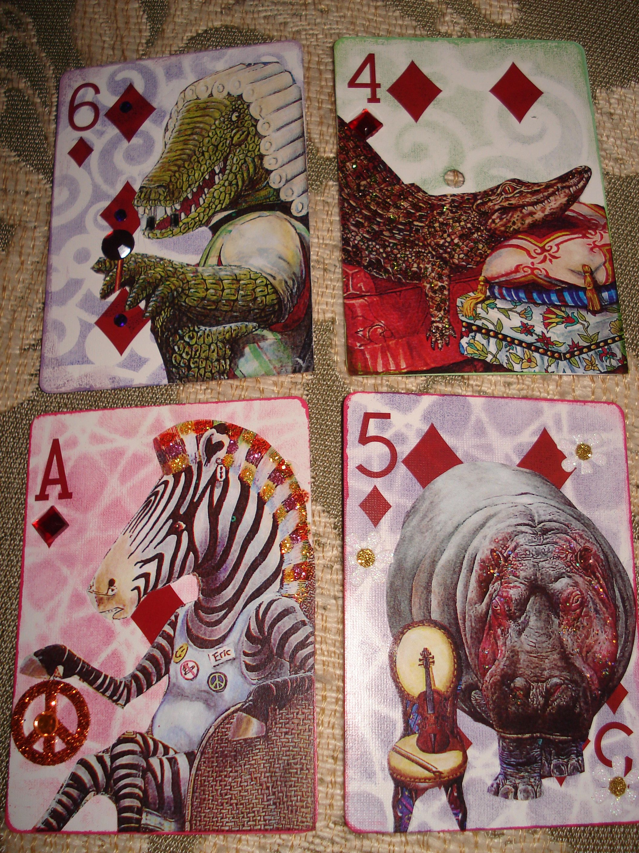 Altered playing cards ahhhh theres an arted lesson