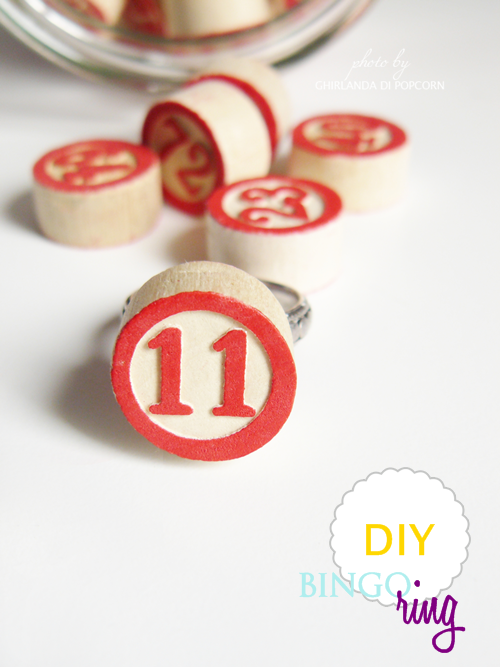 Ghirlanda di Popcorn: DIY: coral nail polish and a bingo ring