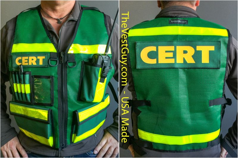 Emergency Response Embroidered Badge Custom Name Tag ID Tactical Vests Outerwear