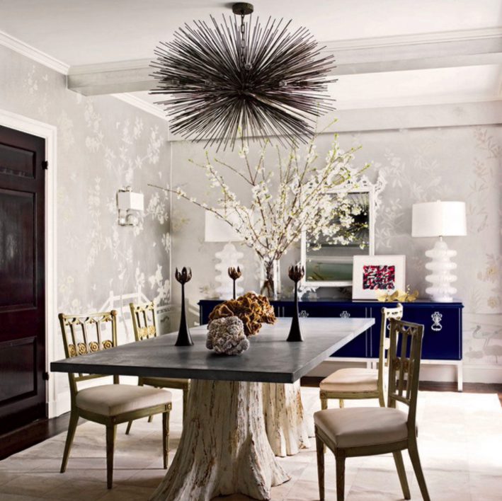 Dress To Room Pairings Emmy Awards 2015  The English Room Fair Tree Trunk Dining Room Table Decorating Inspiration