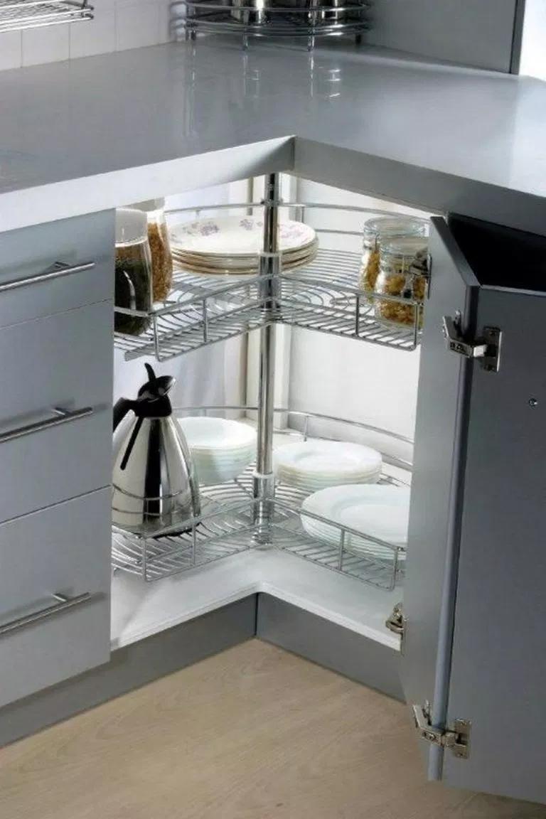 Best 45 Gorgeous Corner Cabinet Storage Ideas For Your Kitchen 400 x 300