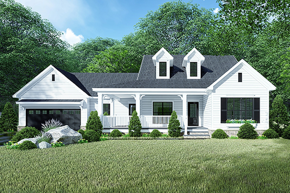 Country Style House Plan 3 Beds 2 Baths 1813 Sq Ft Plan 923 128 In 2020 Country Style House Plans Farmhouse Plans Farmhouse Style House Plans