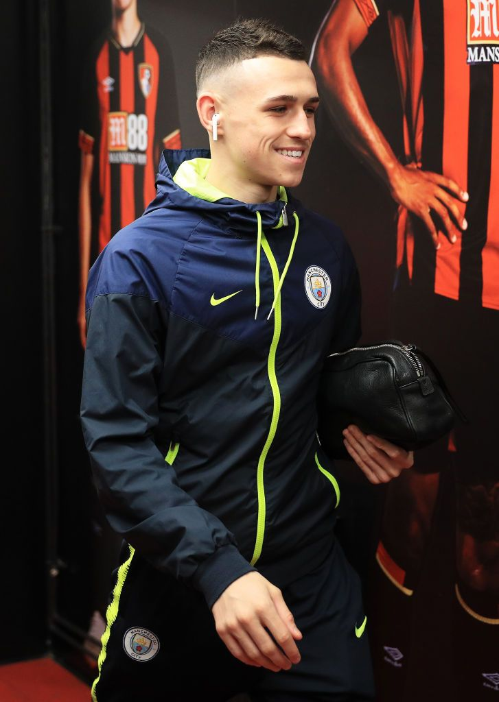 Phil Foden of Manchester City arrives at the stadium prior ...