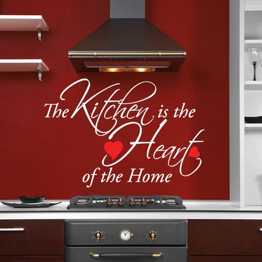 Details About Kitchen Is The Heart Of The Home Quote Wall Art Sticker Decal Dining Room Diner Red Kitchen Walls Kitchen Wall Art Kitchen Wall Decor