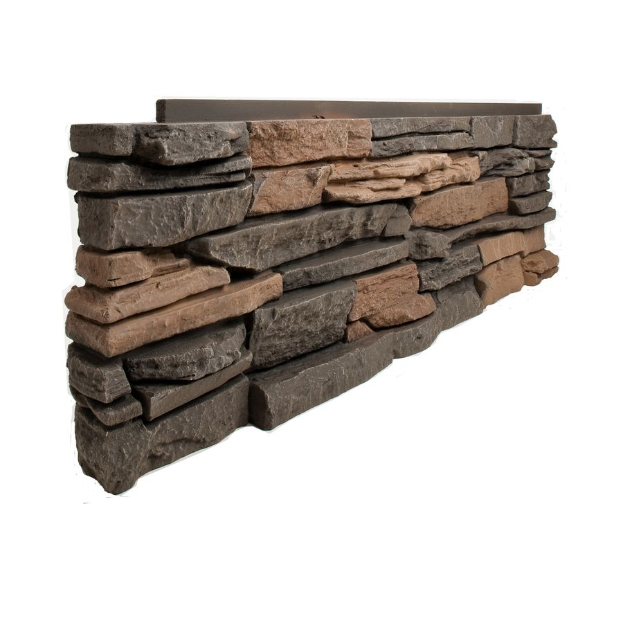 Genstone 25 Sq Ft Stratford Faux Stone Veneer Lowes Com Faux Stone Siding Stone Siding Faux Stone Panels
