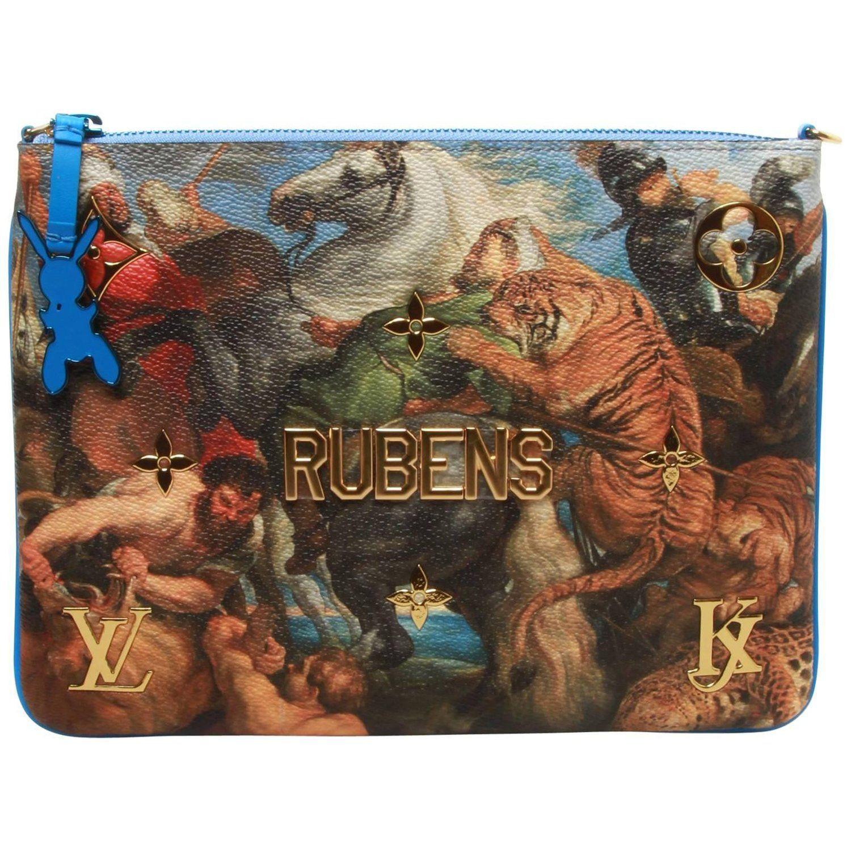 8642cce83 Louis Vuitton LV X Koons Masters Rubens Clutch Bolsas Louis Vuitton, Couro  Metálico, Couro