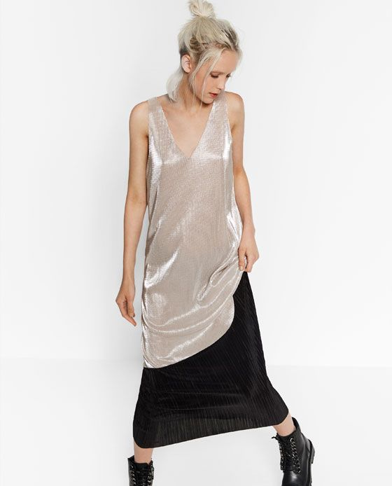 Image 3 of CONTRAST SPARKLY DRESS from Zara