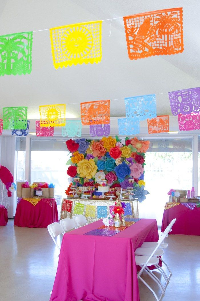 colorful mexican themed baby shower with lots of really fun ideas via karas party ideas