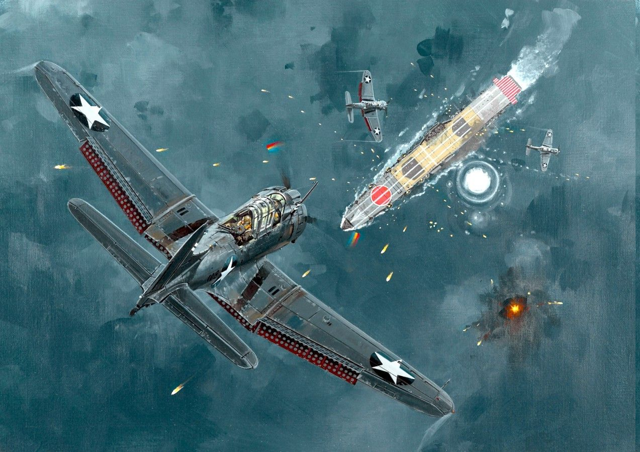 World War II, McDonnell Douglas, Dauntless, Dive Bomber, Pacific, Military Aircraft, Airplane, Military Wallpapers HD / Desktop and Mobile Backgrounds