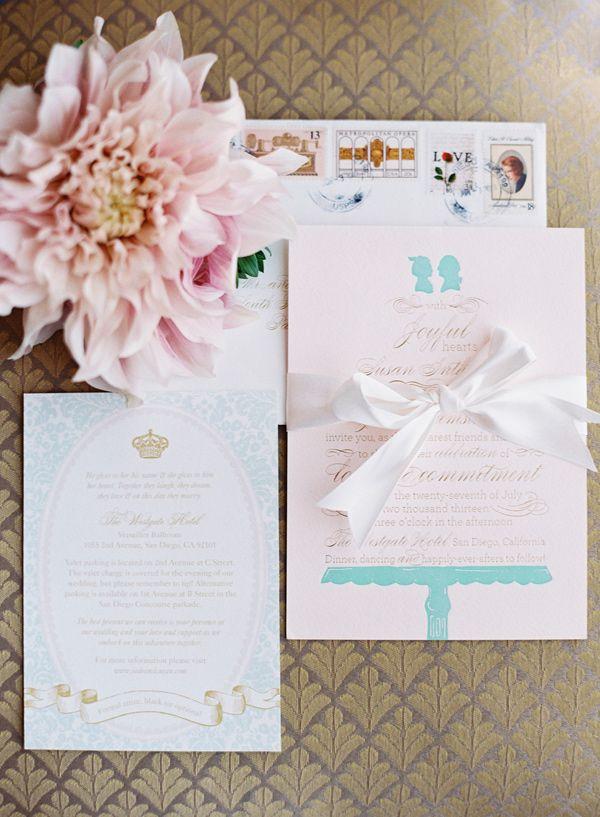 sweet wedding invitations // photo by Caroline Tran // http ...