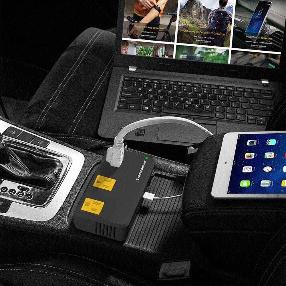 InVert 200 Portable 200W Power Inverter by Scosche in