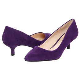 Purple Low Heel Pumps