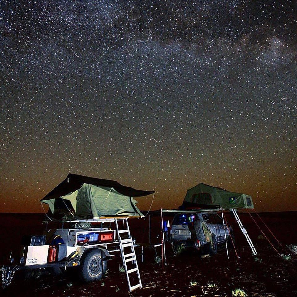 Cool Night Time Roof Top Tent Camping Shoot Photo Greydon Reid