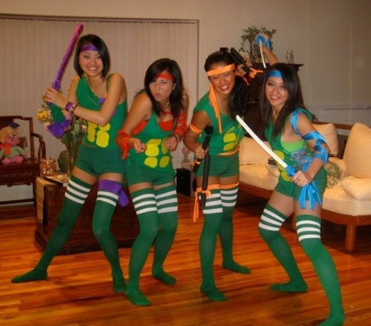Halloween costumes  sc 1 st  Pinterest & Teenage Mutant Ninja Turtle Halloween group costume | Halloween ...