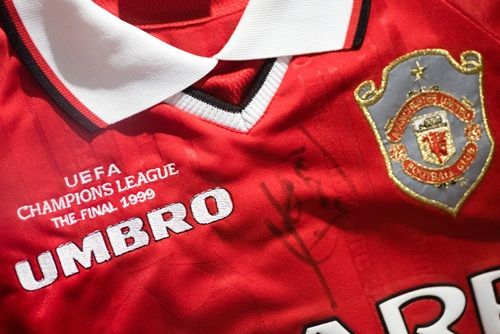 Denis Irwin S 1999 Champions League Final Shirt Courtesy Of