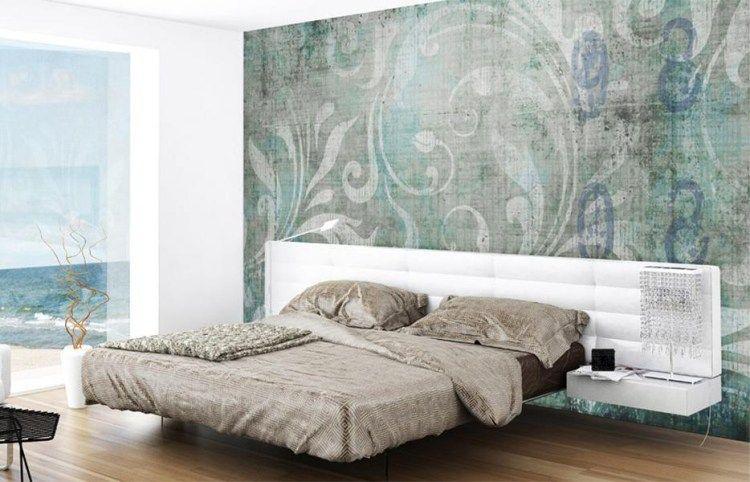Ideen Mit Tapeten Schlafzimmer Grau Aqua Romantik Now ...