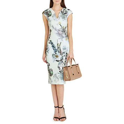 Buy Ted Baker Bavaria Floral Midi Dress, Mint Online at johnlewis ...