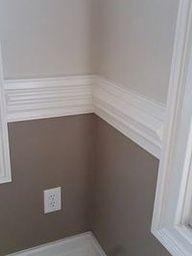 Two Tone Grey Walls Dining Room Paint Room Colors