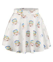 angel smiles print mini skirt