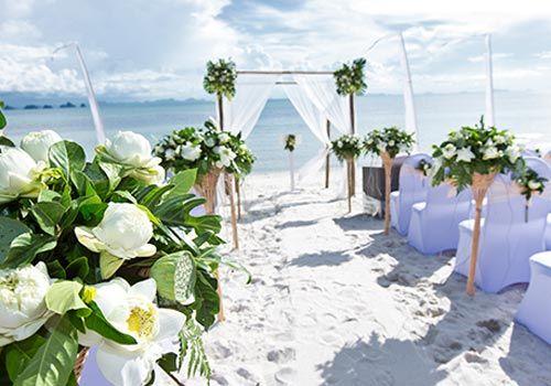 Beach Wedding Ceremony Scene