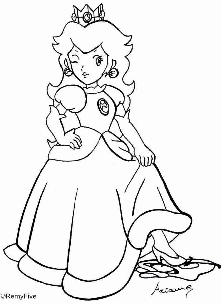 Princess Peach Coloring Page Awesome Rosalina Peach And Daisy Coloring Pages Coloring Home Mario Coloring Pages Princess Coloring Pages Princess Coloring