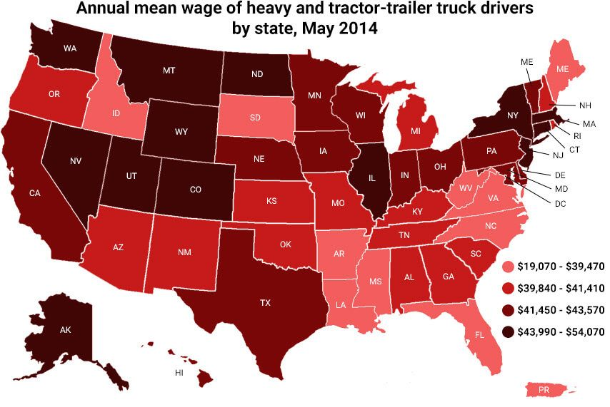 Truck Driver Salary >> Can A Trucker Earn Over 100k Truckerstraining Truck Driver