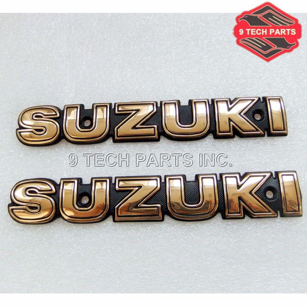 """NEW FREE SHIPPING SUZUKI LETTER Fuel Tank Emblem """"GOLD"""