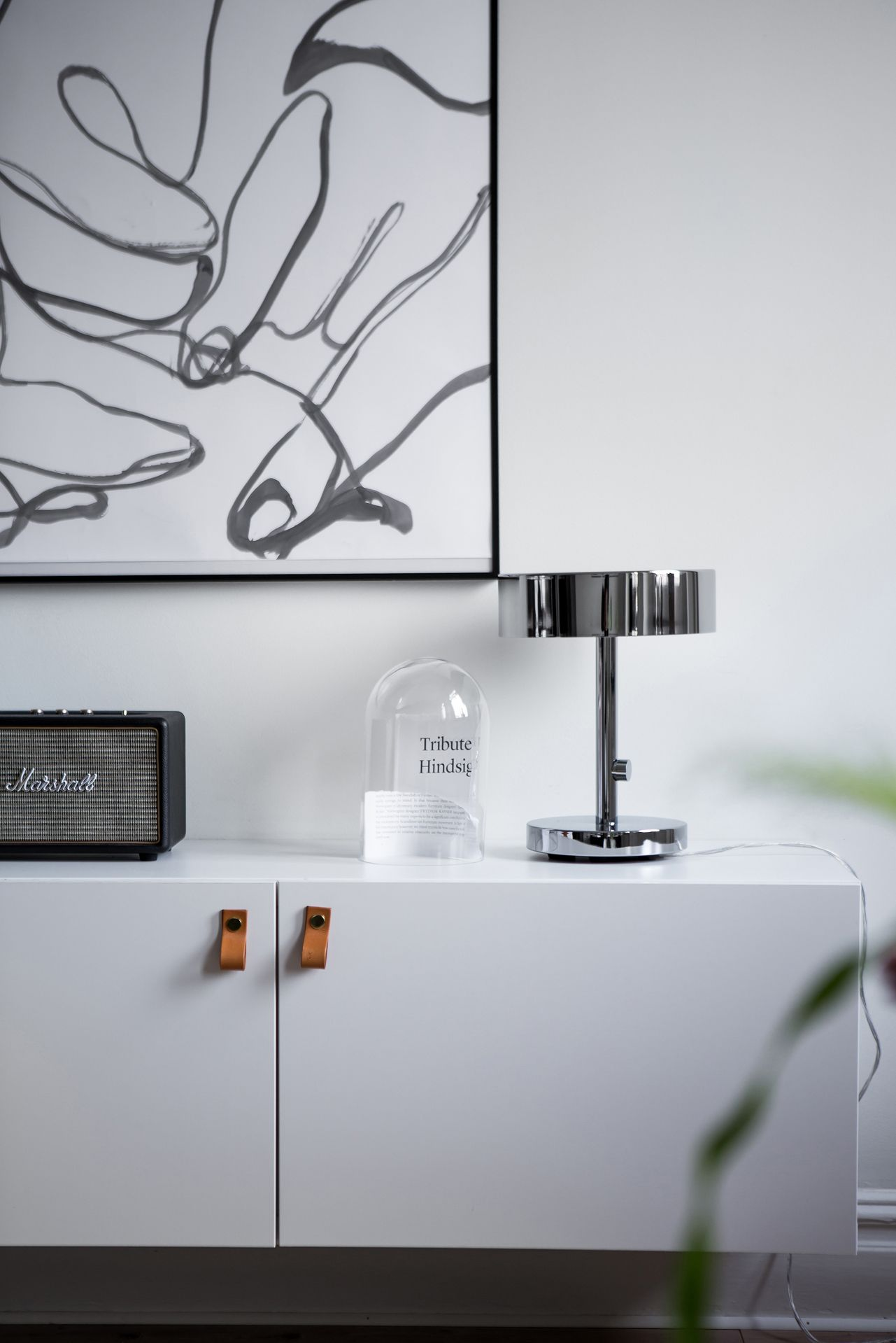 Ikea 'Bestå' with additional leather pulls & 'Stockholm 2017