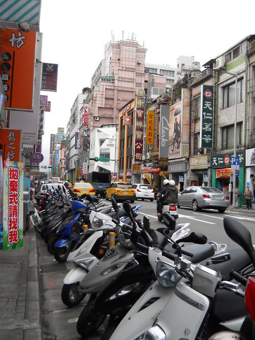 Taiwan city streets. Spent two weeks there over Christmas. Missions!