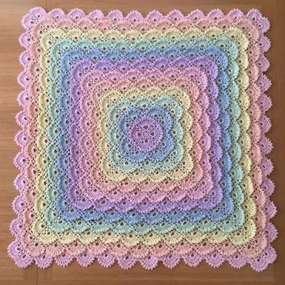 Shell Stitch Baby Blanket Free Pattern Yarn Crochet For Table