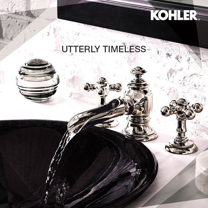 Kohler Indiathe Vintage Inspired Artifacts Flume Faucet Design