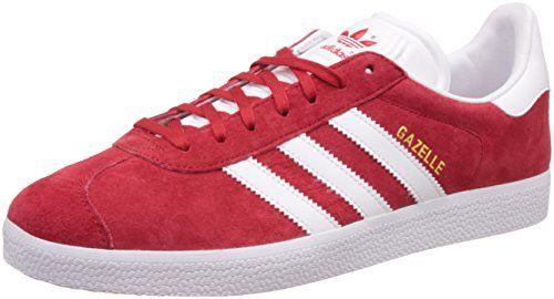 more photos a69ac 9be8d Adidas Gazelle, Adidas Men, Adidas Sneakers, Unisex, Scarlet, White Gold,