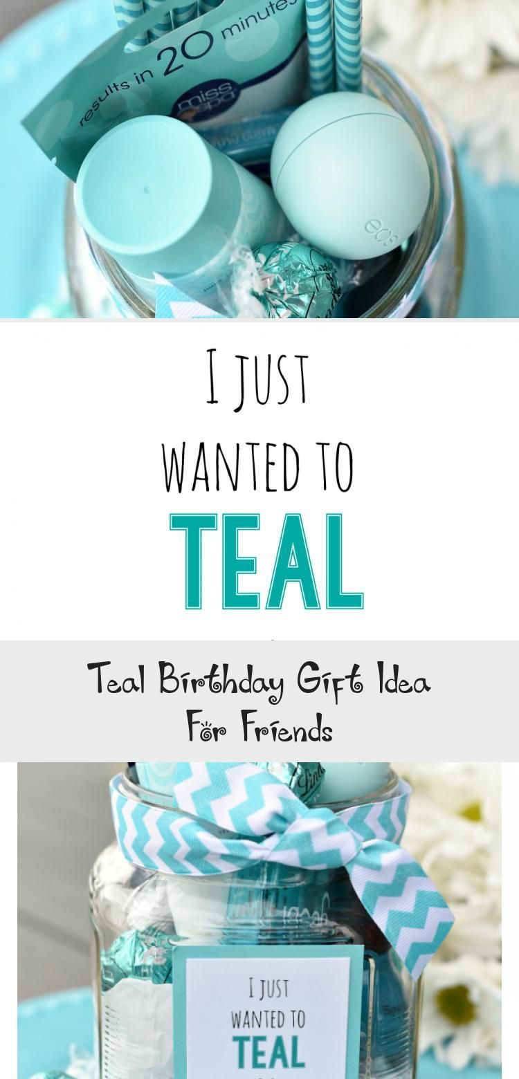 Teal Birthday Gift Idea For Friends – Pinokyo #Birthday #Friends #gift #idea #P…