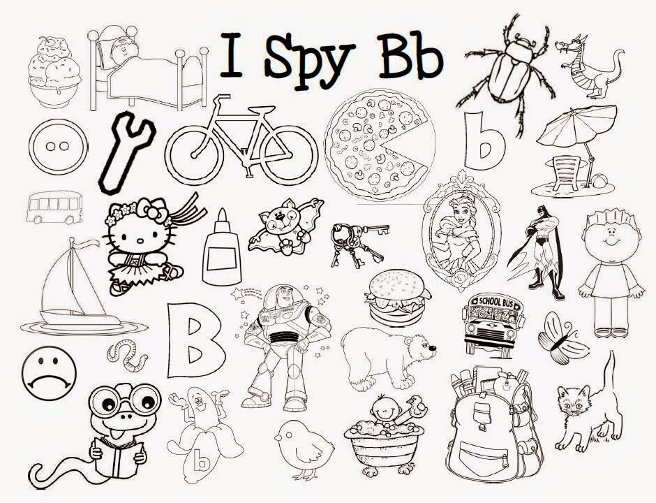 I Spy Letter Sounds Coloring Pages *Free printables* by Mom has ...