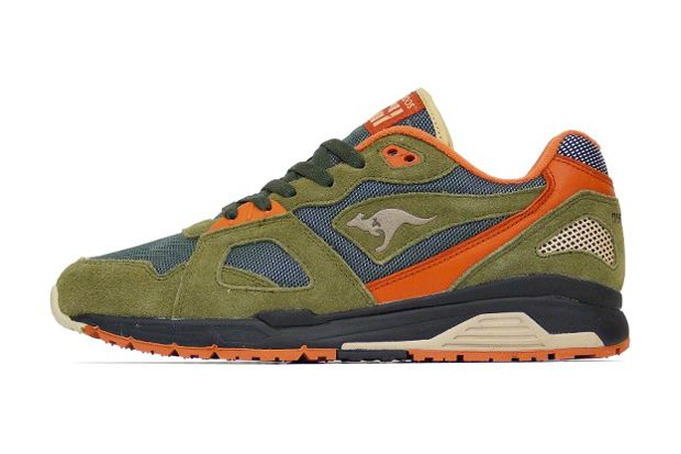 Kangaroos Future Dark Olive Rust Sand Kangaroo Shoes Mens Sneakers Casual Sneakers Fashion