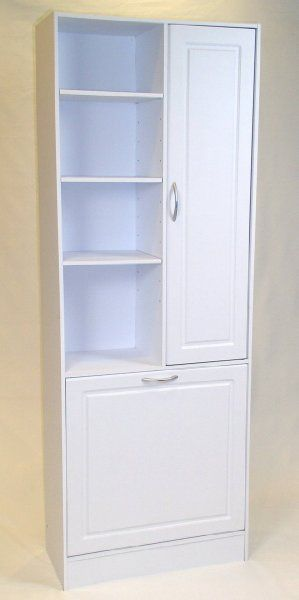 Linen Cabinet W Laundry Hamper Amazon Home Amp Kitchen Bathroom Corner Storage Bathroom Corner Storage Cabinet Small Bathroom Storage