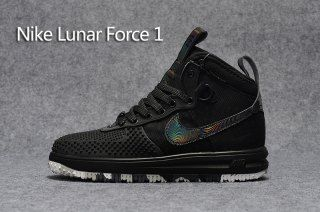 outlet store 97f84 134ae Mens Sneakers Nike Lunar Force 1 Duckboot KPU Black Camouflage Star Oreo  Black