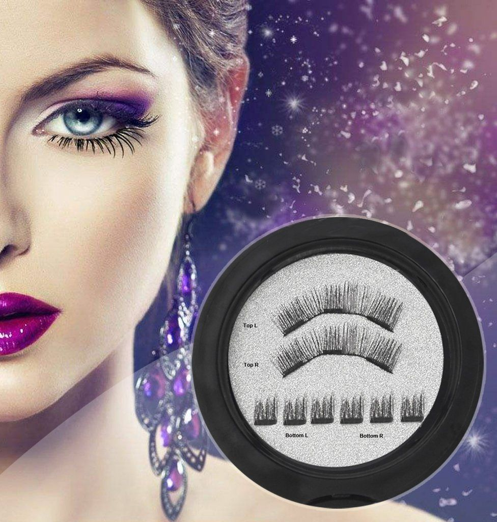 670df86f56b $6.99 for NO Glue 3D Magnetic Eyelashes Lashes REUSABLE False Full Size  Natural Look Style 002 by ColorMilky