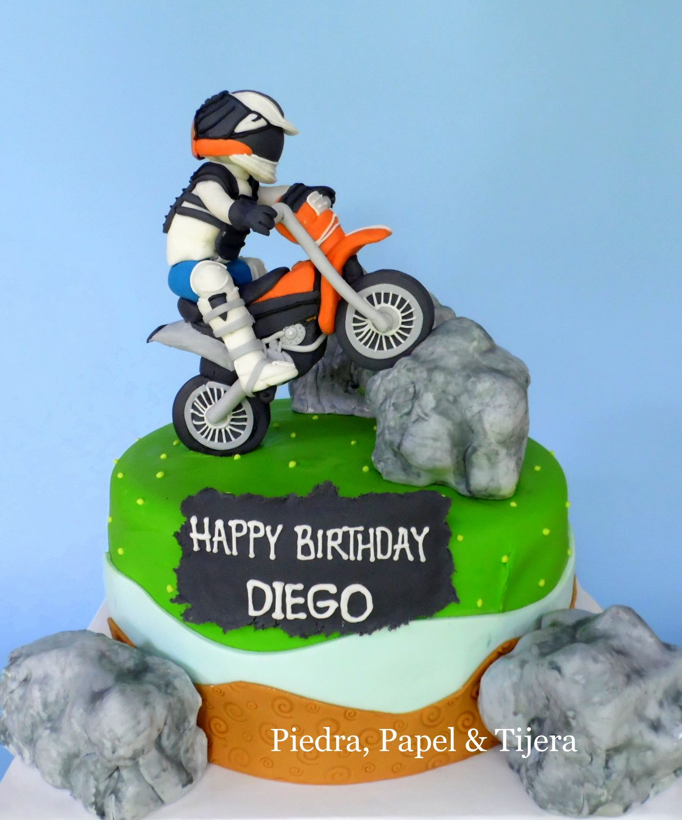 Motorcycle Trial Cake