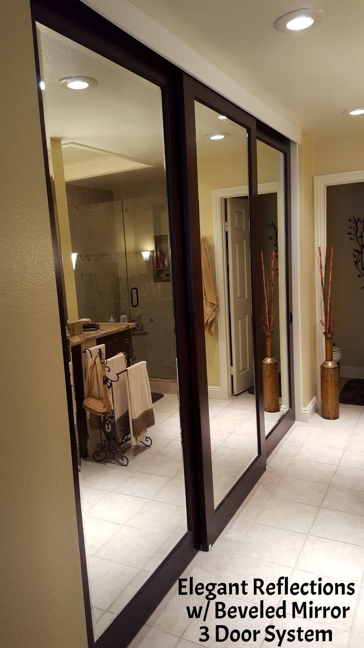Bedroom Closet Doors Sliding Mirrored Wardrobe Mirror
