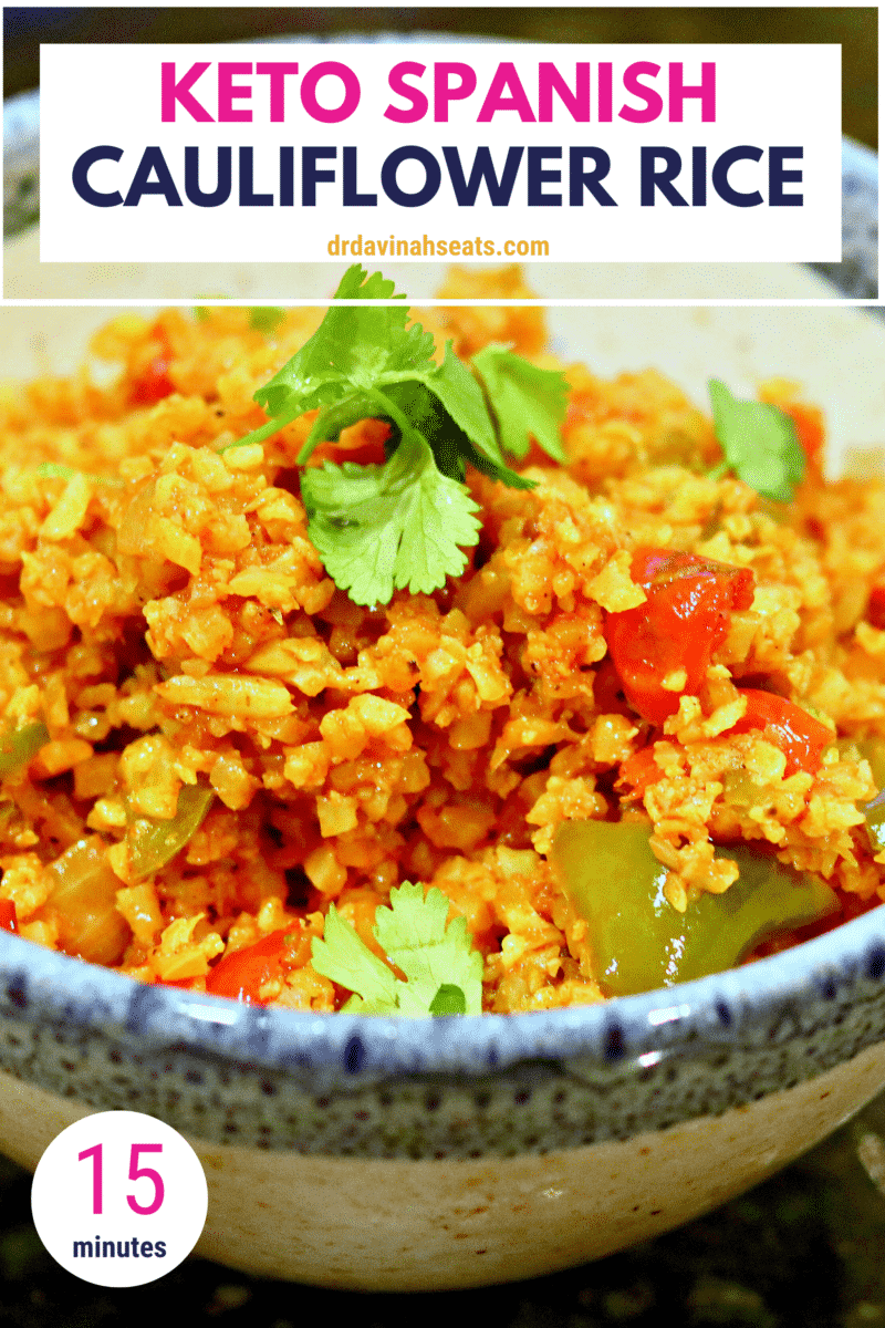 Keto Spanish Cauliflower Rice Recipe   Dr. Davinah's Eats #seasonedricerecipes