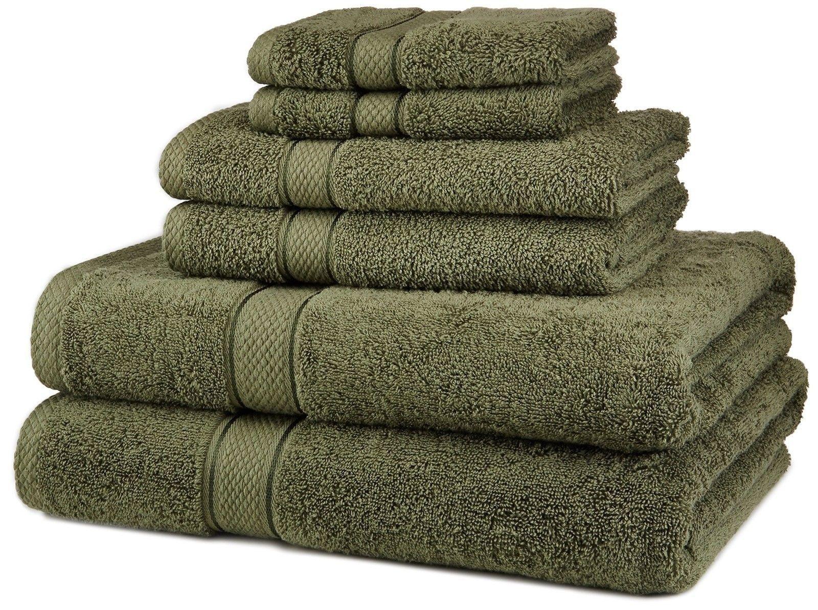 Bamboo Cotton 6-Piece Bath Towel Set