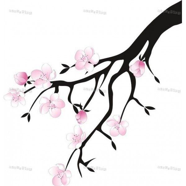 fleurs de cerisier japonais dessin. Black Bedroom Furniture Sets. Home Design Ideas